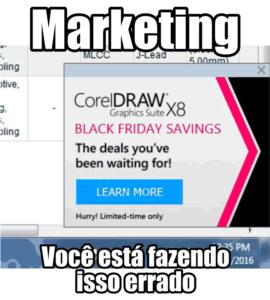 Marketing o Corel faz isso errado