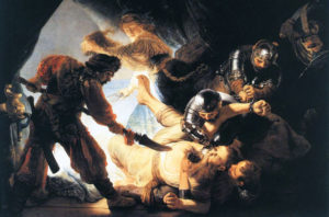 "Rembrandt ""The blinding of Samson"""