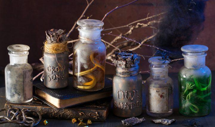 Apothecary jars and magic potions